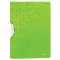 Dosar cu clip LEITZ WOW ColorClip, PP, A4, 30 coli, verde