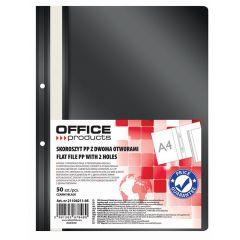 Dosar plastic PP cu sina, cu gauri, grosime 100/170 microni, 50 buc/set, Office products - negru