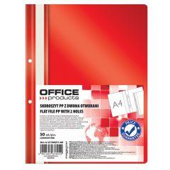 Dosar plastic PP cu sina, cu gauri, grosime 100/170 microni, 50 buc/set, Office products - rosu