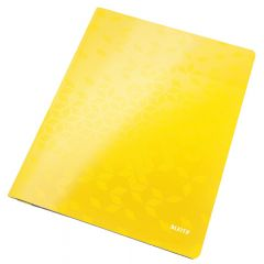 Dosar cu sina LEITZ WOW, carton laminat, A4, 250 coli, galben
