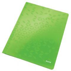 Dosar cu sina LEITZ WOW, carton laminat, A4, 250 coli, verde