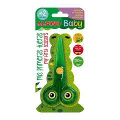 Foarfeca pentru copii, din plastic, 120mm, ALPINO Baby