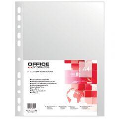 Folie protectie pentru documente A4, 45 microni, 100folii/set, Office Products - transparenta