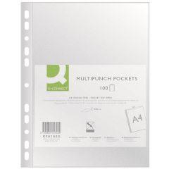 Folie protectie pentru documente,  50 microni, 100folii/set, Q-Connect - transparenta