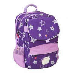Ghiozdan scoala Hansen LEGO Core Line - design Stars - violet