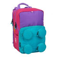 Ghiozdan scoala Petersen LEGO Core Line - design Brick 2x2 - roz/violet