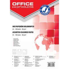 Hartie color, 80g/mp, 100 (5 x 20) coli/top, Office Products - culori pastel asortate