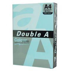 Hartie color pentru copiator  A4,  80g/mp,  25coli/top, Double A - pastel blue