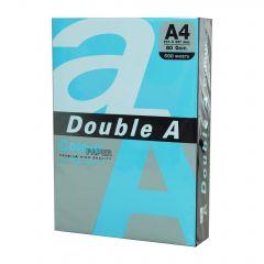 Hartie color pentru copiator  A4,  80g/mp,  25coli/top, Double A - albastru intens