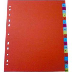 Index plastic color, numeric 1-12, extra wide, A4+, 125 microni, Optima