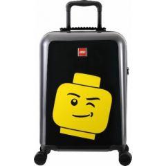 Troller 20 inch, material ABS, LEGO Minifigure Head - negru