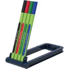 Liner SCHNEIDER Line-Up, varf fetru 0.4mm,  4 culori/set