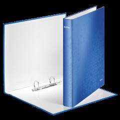 Caiet mecanic LEITZ Wow, mecanism 2DR, inel 25mm, carton laminat - albastru metalizat
