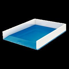 Tavita documente LEITZ Wow, culori duale - albastru metalizat