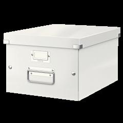 Cutie LEITZ Click & Store medie 281 x 200 x 369 mm, carton laminat - alb