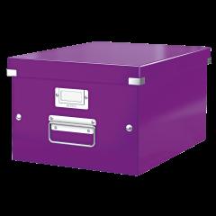 Cutie LEITZ Click & Store medie 281 x 200 x 369 mm, carton laminat - mov