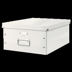 Cutie LEITZ Click & Store mare 369 x 200 x 484 mm, carton laminat - alb