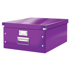 Cutie LEITZ Click & Store mare 369 x 200 x 484 mm, carton laminat - mov