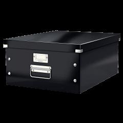 Cutie LEITZ Click & Store mare 369 x 200 x 484 mm, carton laminat - negru