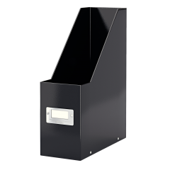 Suport vertical LEITZ Click & Store pentru documente, carton laminat - negru