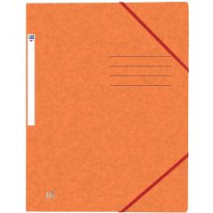 Mapa A4, carton MultiStrat 390g/mp, cu elastic, OXFORD Top File - orange