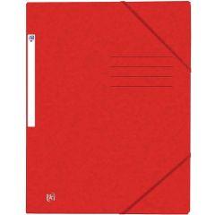 Mapa A4, carton MultiStrat 390g/mp, cu elastic, OXFORD Top File - rosu