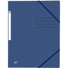 Mapa A4, carton MultiStrat 390g/mp, cu elastic, OXFORD Top File - bleumarin
