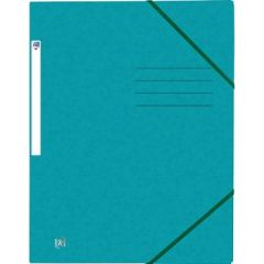 Mapa A4, carton MultiStrat 390g/mp, cu elastic, OXFORD Top File - aqua