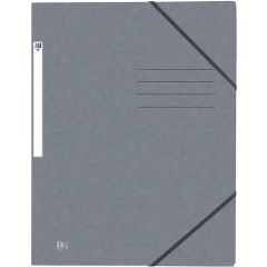 Mapa A4, carton MultiStrat 390g/mp, cu elastic, OXFORD Top File - gri