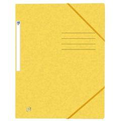 Mapa A4, carton MultiStrat 390g/mp, cu elastic, OXFORD Top File - galben