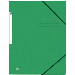 Mapa A4, carton MultiStrat 390g/mp, cu elastic, OXFORD Top File - verde