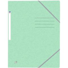 Mapa A4, carton MultiStrat 390g/mp, cu elastic, OXFORD Top File - verde pastel