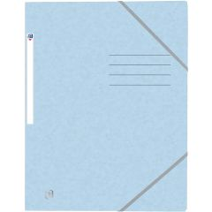 Mapa A4, carton MultiStrat 390g/mp, cu elastic, OXFORD Top File - bleu pastel