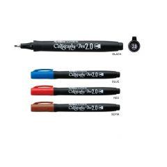 Marker ARTLINE Supreme Calligraphy, varf tesit din fetru 2.0mm - maro