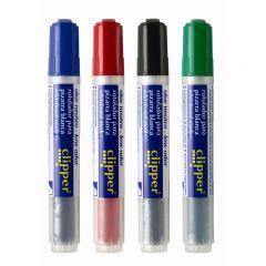 Marker pentru table de scris, cerneala lichida, fara miros, Clipper - rosu