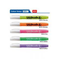 Marker ARTLINE Decorite, varf rotund 1.0mm - galben neon