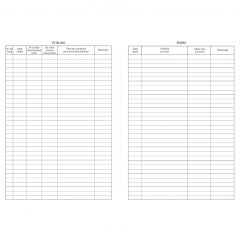 Registru intrare-iesire corespondenta orizontal, A4, 100 coli/carnet, coperta mucava