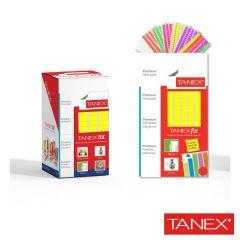 Pastile adezive nepermanente, 50gr, 85buc/set, TANEX Fix - galben fluorescent