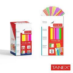 Pastile adezive nepermanente, 50gr, 85buc/set, TANEX Fix - color fluorescent
