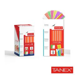 Pastile adezive nepermanente, 50gr, 85buc/set, TANEX Fix - orange fluorescent