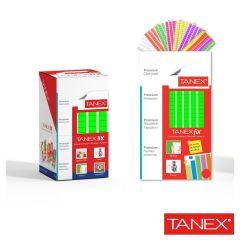 Pastile adezive nepermanente, 50gr, 85buc/set, TANEX Fix - verde fluorescent
