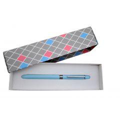 Pix multifunctional de lux PENAC Multisync MS-107, in cutie cadou, corp bleu sky - accesorii arginti