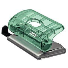 Perforator platic Rapid Colour Ice FC5, 10 coli, blister, verde