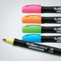 Permanent marker ARTLINE Supreme, corp plastic, varf rotund 1.0mm - 4 culori/set