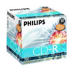 CD-R 700MB-80min  Jewelcase, 52x, printabil, PHILIPS