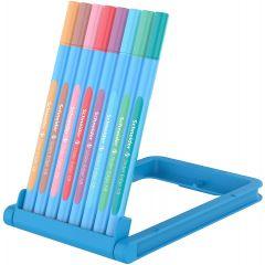 Pix SCHNEIDER Slider Edge Pastel XB, rubber grip, varf 1.4mm, 8 culori pastel/set