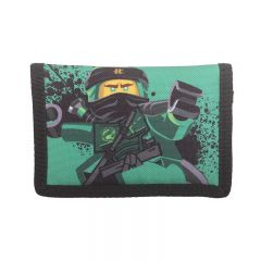 Portofel textil LEGO M-Line - design verde NinjaGo Lloyd
