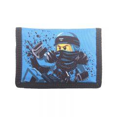 Portofel textil LEGO M-Line - design albastru NinjaGo Jay