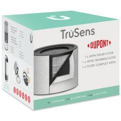 Rezerva filtru DuPont, HEPA 3 in 1, pentru purificator LEITZ TruSens Z-2000, alb