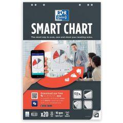 Rezerva hartie flipchart, 65x98cm, OXFORD Smart Chart, 20coli/top, 90g/mp, Scribzee - matematica